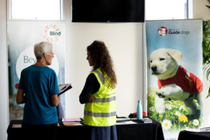 Volunteer expo 2020 guide dogs stand